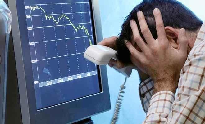 निचले स्तर पर लुढ़के शेयर बाजार, निवेशकों के डूबे 2 लाख करोड़