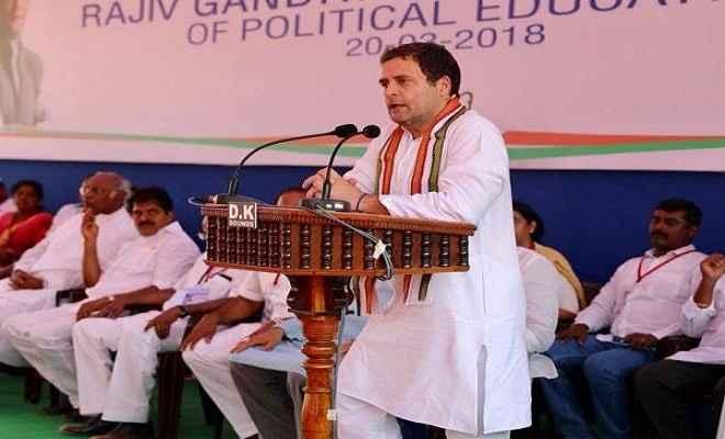 राहुल गांधी बोले : सरकार ने 15 अमीर लोगों के कर्ज माफ किए पर किसानों के नहीं