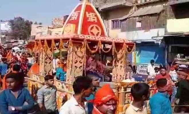 रामनवमी के अवसर पर जहानाबाद में निकाली गई भव्य शोभायात्रा
