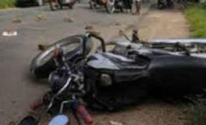सड़क दुर्घटना में दो लोगों की मौत, एक घायल
