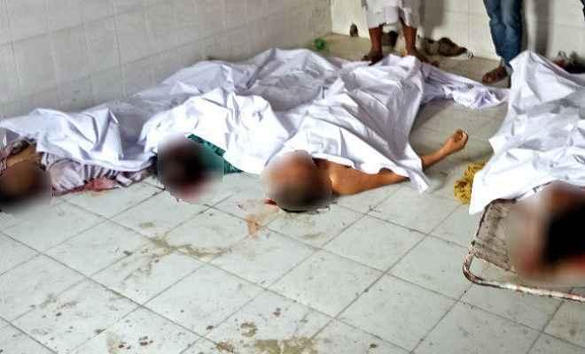 सूमो को अज्ञात वाहन ने रौंदा, पांच लोगों की मौत