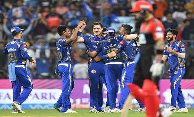 मुंबई ने 46 रनों से बेंगलुरू को हराकर खोला जीत का खाता