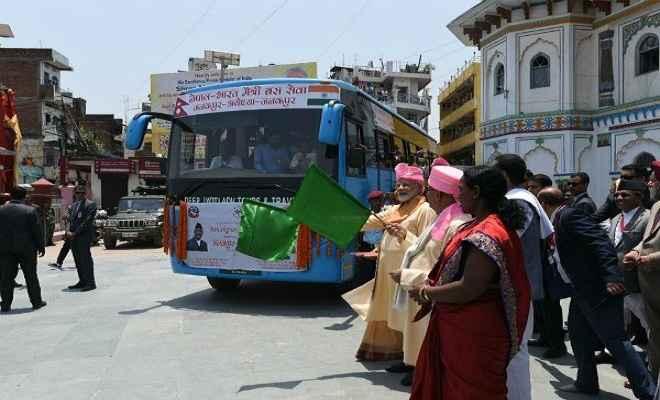 नेपाल में प्रधानमंत्री मोदी का 'जय सियाराम', जनकपुर-अयोध्या बस सर्विस को दिखाई हरी झंडी