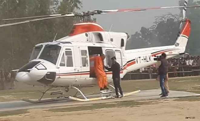 खतरे में पड़े मुख्यमंत्री  योगी, पायलट की सूझबूझ से हुई सुरक्षित लैंडिंग