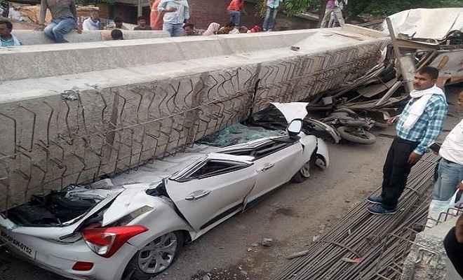 मोदी की काशी में खुली भ्रष्टाचार की पोल, निर्माणाधीन पुल का हिस्सा गिरने से 25 की मौत