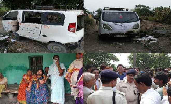 बिहार में हादसा : स्कूल वैन पर गिरा हाई वोल्टेज तार, दो बच्चों की मौत, 11 घायल