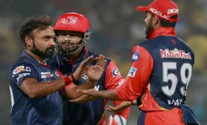आईपीएल 2018: दिल्ली ने चेन्नई को गेंदबाजों के सहारे 34 रन से दी मात