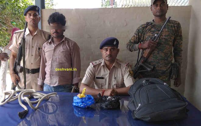 मोतिहारी में 550 ग्राम विस्फोटक के साथ सद्दाम धराया, आदापुर का शातिर नेक मोहम्मद फरार