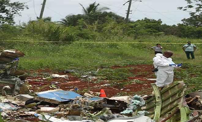 क्यूबा विमान हादसा : जिंदा बची एक महिला की मौत, मृतकों की संख्या बढ़कर 111 पहुंची