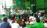 कर्नाटक में येदियुरप्पा सरकार के खिलाफ पटना में राजद का धरना प्रदर्शन