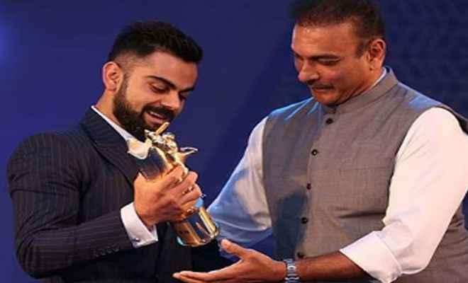 बीसीसीआई ने विराट को दो सत्र के लिए पॉली उमरीगर ट्रॉफी प्रदान कर किया सम्मानित