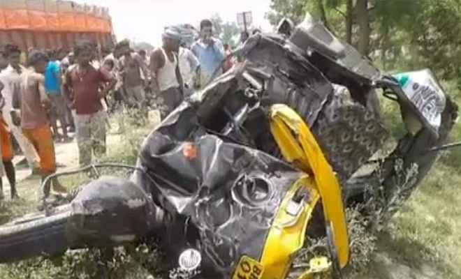 समस्तीपुर में टैंकर-ऑटो की टक्कर, चार की मौत,कई घायल