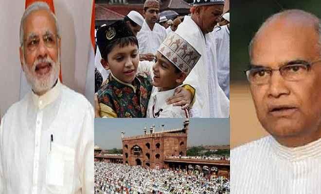 देशभर में ईद का जश्न, राष्ट्रपति और प्रधानमंत्री ने दी बधाई
