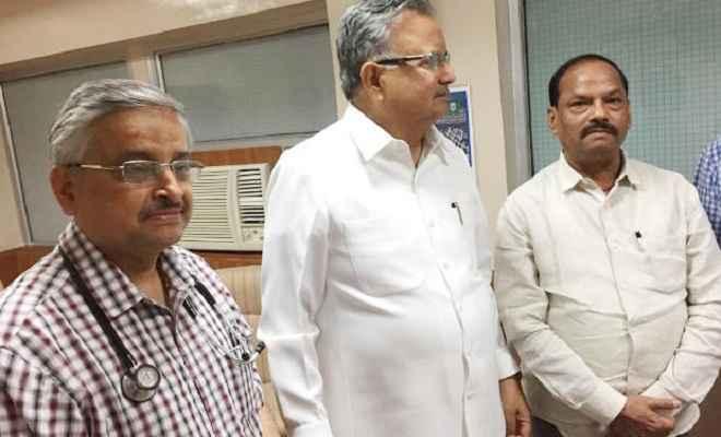 रघुवर दास ने वाजपेयी और जेटली के स्वास्थ्य की जानकारी ली