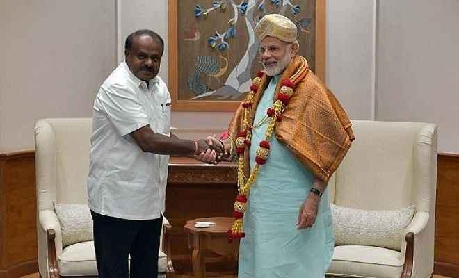 किसानों की कर्जमाफी के लिए कुमारस्वामी ने केंद्र से मांगी मदद
