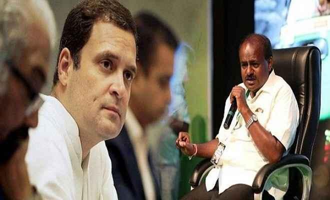 कुमारस्वामी के मिलने पर बोले राहुल गांधी:  सरकार चलाने में रहेगा कांग्रेस का पूरा सहयोग