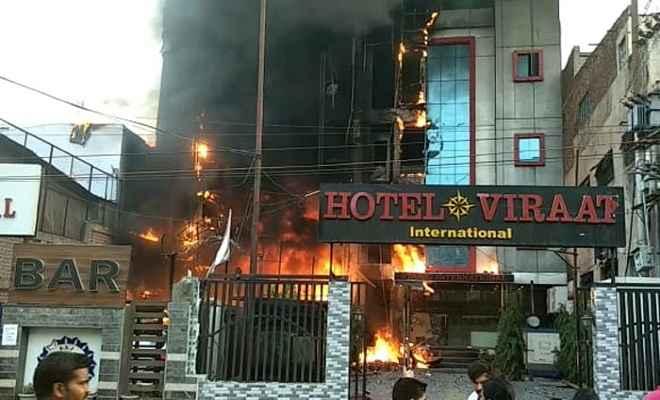 लखनऊ के विराट इंटरनेशनल और एसएसजी इंटरनेशनल होटल में भीषण आग, 5 की मौत