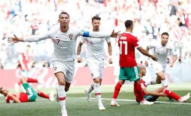 फीफा विश्वकप: पहले हाफ में रोनाल्डो के गोल से पुर्तगाल ने मोरक्को पर बनाई 1-0 से बढ़त