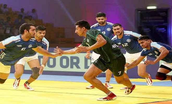कबड्डी मास्टर्स चैम्पियनशिप: भारत ने पाकिस्तान को 36-20 से हराया
