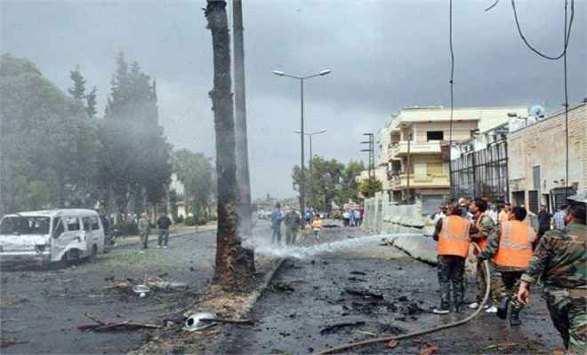 सीरिया के एक गांव में बमबारी, 6 लोगों की मौत 35 घायल