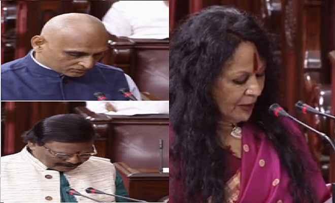 राकेश सिन्हा, सोनल मानसिंह और रघुनाथ महापात्रा ने ली पद और गोपनीयता की शपथ