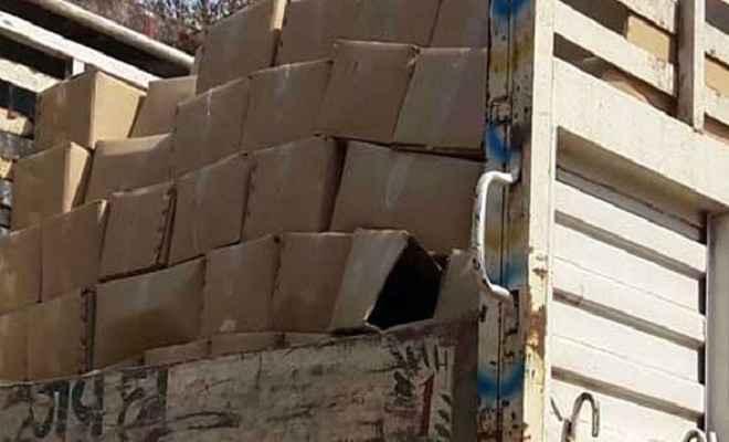 पुलिस ने शराब के 478 कार्टन ट्रक से किए बरामद