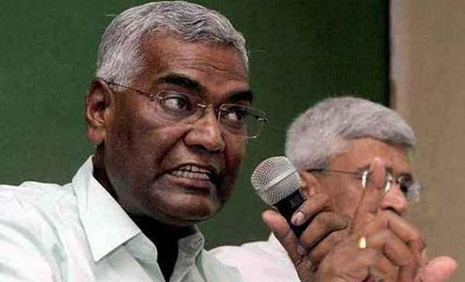 अविश्वास प्रस्ताव के दौरान खुली एनडीए सरकार की पोल: डी राजा