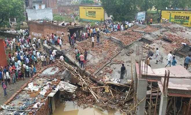 गाजियाबाद में गिरी पांच मंजिला निर्माणाधीन बिल्डिंग, कई लोग दबे