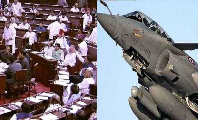 राफेल विमान सौदे पर कांग्रेस का संसद में फिर हंगामा