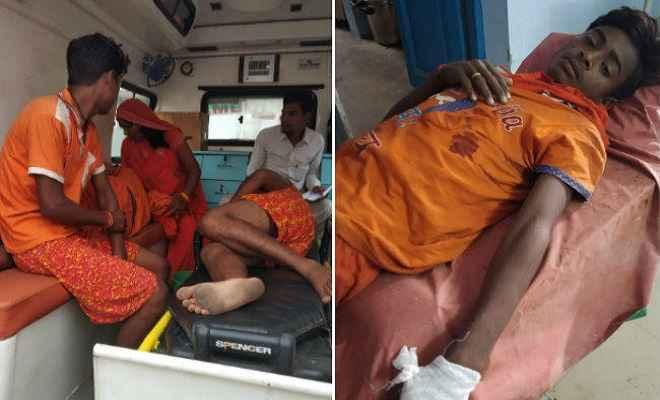 बाबाधाम से लौट रही गाड़ी दुर्घटनाग्रस्त, 18 कांवरिया गंभीर रूप से घायल