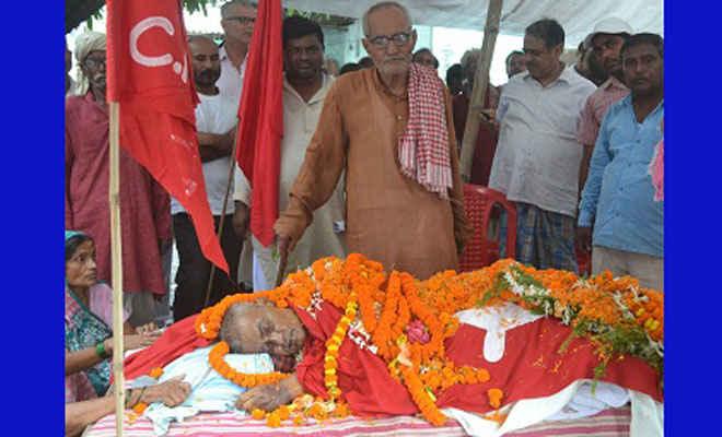 बिहार के चर्चित माकपा नेता विजयकांत ठाकुर के निधन पर शोक की लहर