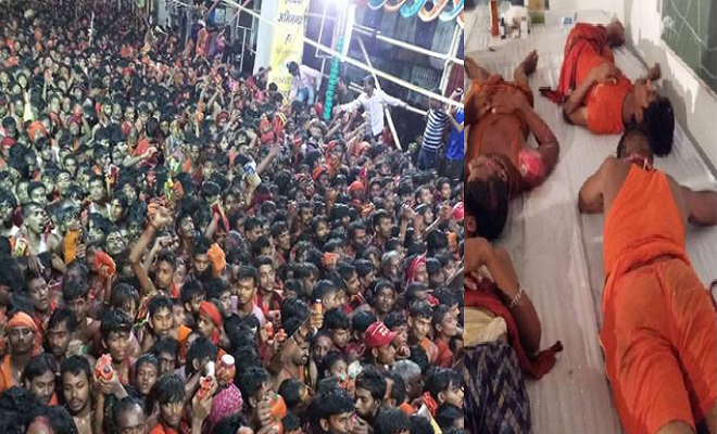 मुजफ्फरपुर: जलाभिषेक के दौरान गरीबनाथ मंदिर में मची भगदड़, 25 घायल