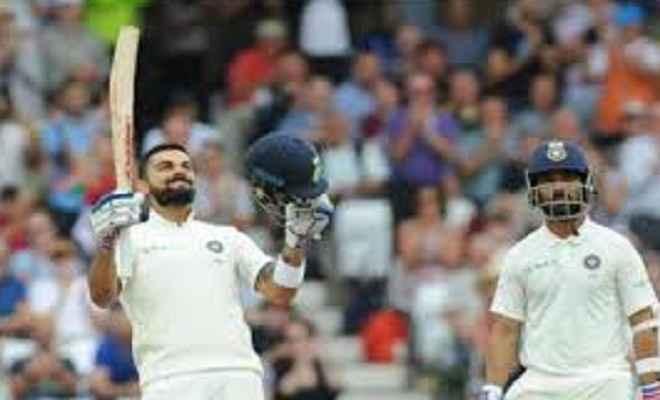 कप्तान कोहली का शतक, भारत ने इंग्लैंड को दिया 521 रनों का लक्ष्य