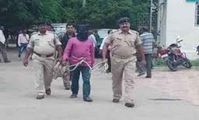 गिरफ्तार टीपीसी उग्रवादी गंझू को कटकमदाग पुलिस ने लिया रिमांड पर