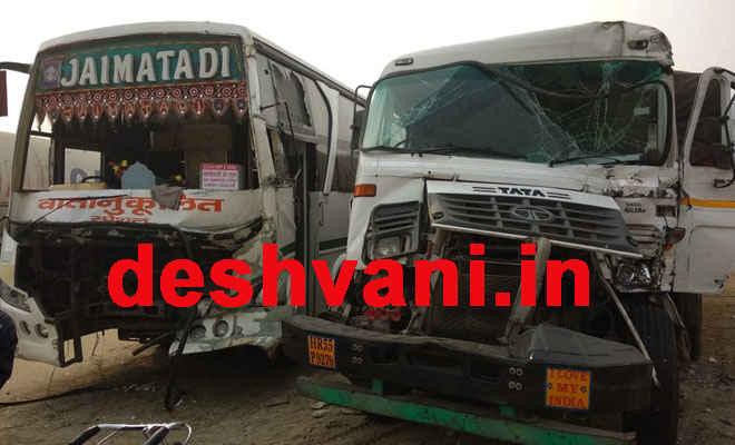 एनएच 28 पर अलग-अलग तीन दुर्घटनाओं में जयमाता दी बस सहित 10 वाहन टकराए, एक दर्जन यात्री घायल