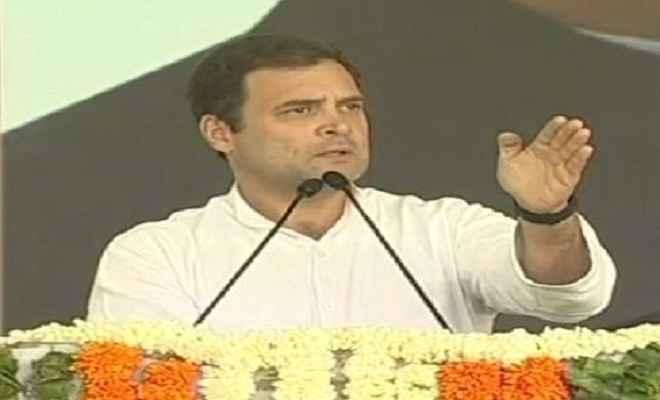 केन्द्र में सरकार बनने के बाद देश के हर किसान का कर्जा होगा माफ: राहुल गांधी