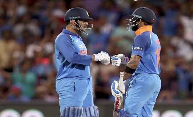 भारत बनाम आस्ट्रेलिया: विराट कोहली-धोनी के दम पर जीता भारत, सीरीज 1-1 से हुआ बराबर