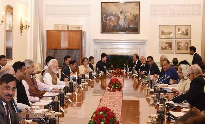 प्रधानमंत्री मोदी और हसीना की वार्ता के बाद तीन परियोजनाएं शुरू, दोनों देशों के बीच हुए 7 महत्वपूर्ण समझौते