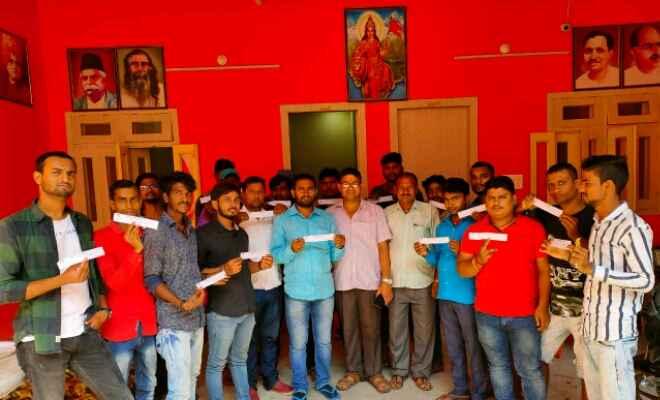 रक्सौल में भारतीय जनता पार्टी के 25 युवा कार्यकर्ता ने पार्टी की सक्रियता सदस्यता ग्रहण की