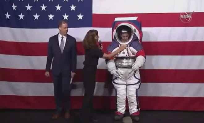 अमेरिकी अंतरिक्ष एजेंसी नासा के स्पेससूट का अनावरण, 2024 के चंद्र दक्षिण ध्रुव मिशन में करेगा प्रयोग