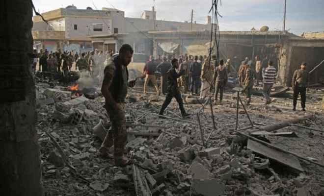 तुर्की नियंत्रित उत्तर पूर्वी सीरिया टाउन में कार में भीषण धमाका, आठ लोगों की मौत