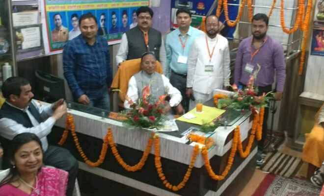रक्सौल में सिक्किम के राज्यपाल गंगा प्रसाद चैरसिया का स्वागत