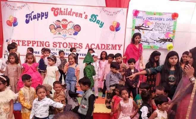 मोतिहारी के स्टेपिंग स्टोन्स एकेडमी में मना बाल दिवस