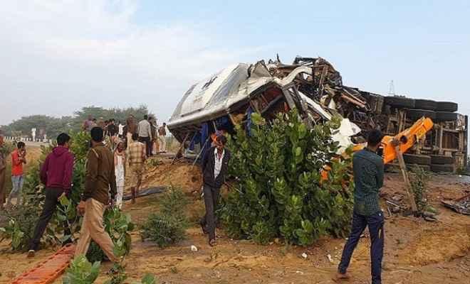 राजस्थान: बीकानेर में भीषण सड़क हादसे में दस लोगों की मौत, कई लोग घायल