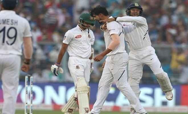 बांग्लादेश को रास नहीं आयी गुलाबी गेंद, पूरी टीम 106 रन पर लौटी पवेलियन