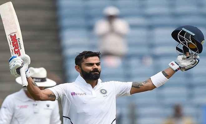 कोलकाता टेस्ट : विराट कोहली ने जड़ा 27वां शतक, बतौर कप्तान पॉन्टिंग को पछाड़ा