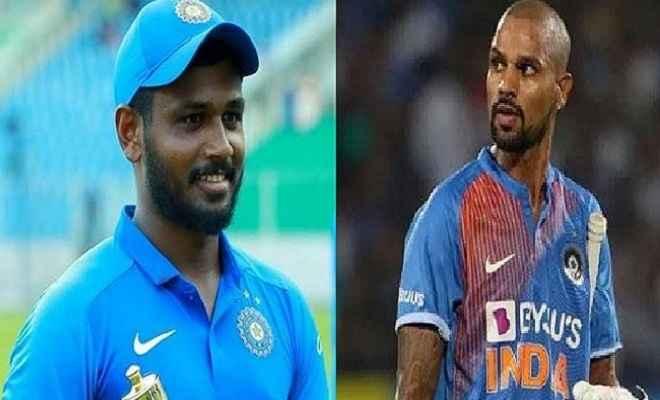 चोटिल धवन वेस्टइंडीज के खिलाफ टी-20 श्रृंखला से बाहर, संजू सैमसन को मौका