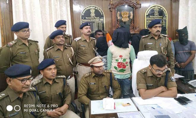 मोतिहारी पुलिस ने 8 को अर्म्स के साथ दबोचा, एसपी ने कहा-पीपरा में बैंक व व्यवसायी से लूट की फिराक में थे