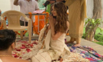 दिशा पाटनी ने धमाकेदार अंदाज से शुरू की फिल्म 'राधे' की शूटिंग, देसी अवतार में की मुहूर्त पूजा