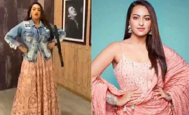 सलमान खान की फ़िल्म दबंग 3 में 'मुन्ना बदनाम' गाने पर बेल्ट खोलकर नाची सोनाक्षी, जैकलीन, कार्तिक आर्यन और आयुष शर्मा को दिया चैलेंज